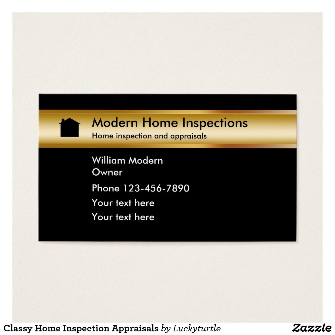 Classy Home Inspection Appraisals Business Card | Home Inspection ...