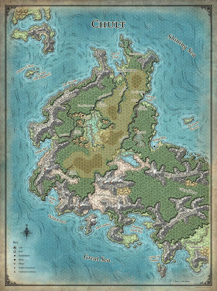 Tomb of Annihilation; Chult - 5E (Digital DM \ Player Versions) Free - new random world map generator free
