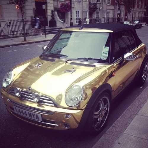 Metallic Gold Window Tint
