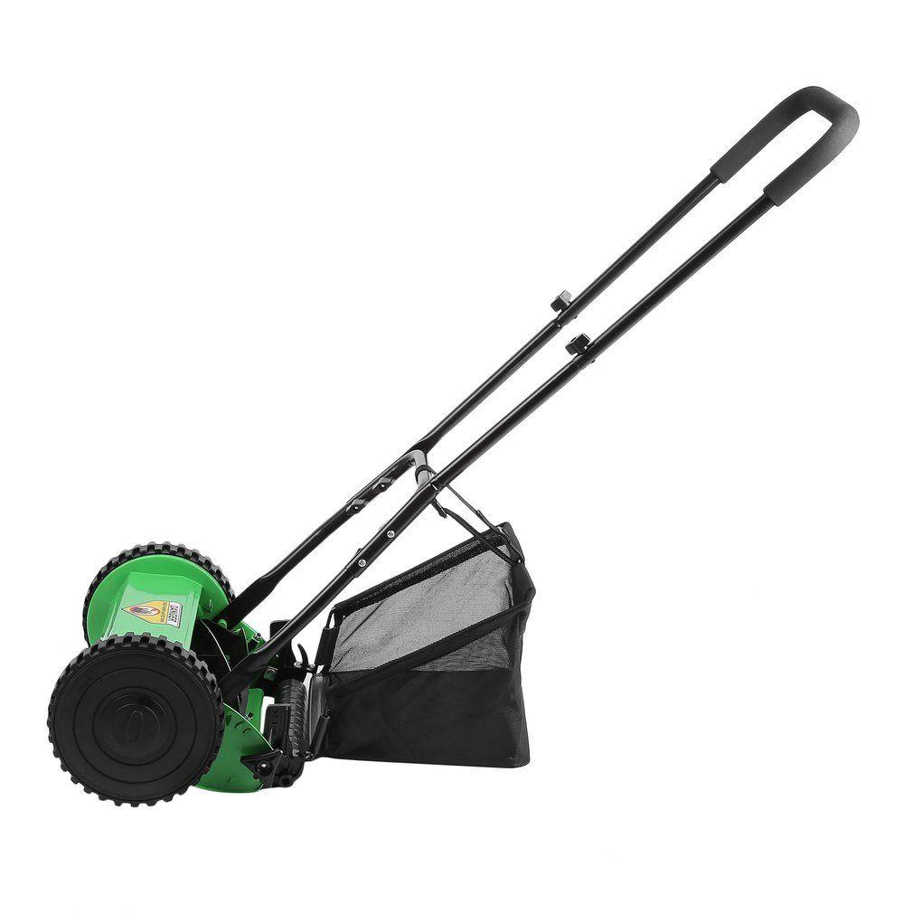 Homgrace Hand Push Reel Lawn Mower Height Adjustable Classic Reel Mower Grass Catcher 5blade For More Information Visi Reel Lawn Mower Reel Mower Lawn Mower