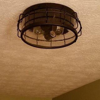Best Aya 13 1 4 Wide Bronze Caged Metal Ceiling Light 24C15 640 x 480