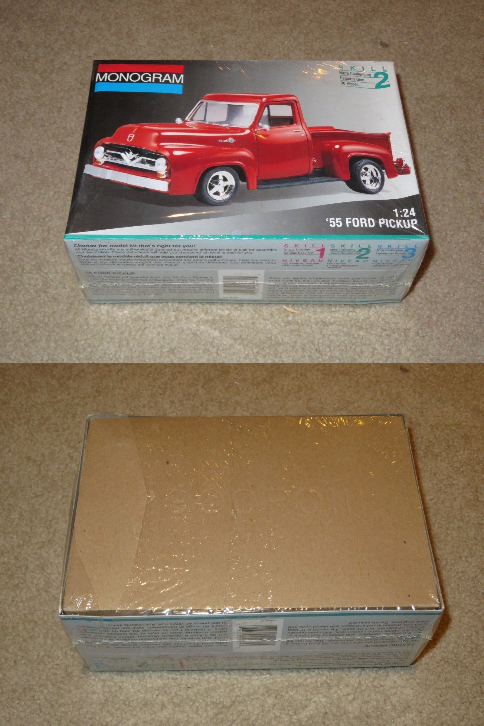 Other Automotive Models And Kits 1190 Monogram 1955 55 Ford Pickup Truck 1 24 Scale Model Kit Misb Sealed 19 Plastic Model Kits Ford Pickup Ford Pickup Trucks