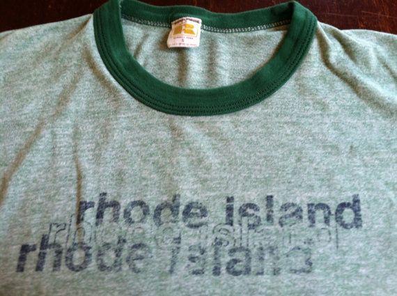 Vintage RHODE ISLAND Tshirt 70s/ RAYON TriBlend by sweetVTGtshirt, $35.00