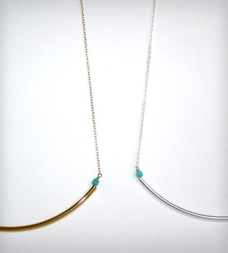 Long Rod Necklace with Beads - Gold or Silver | Jewelry Necklaces | K. Michael | Scoutmob Shoppe | Product Detail