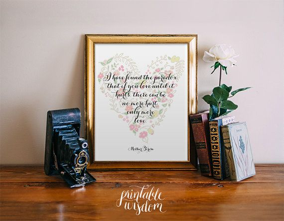 Love Quote Print  Printable art wall decor by PrintableWisdom