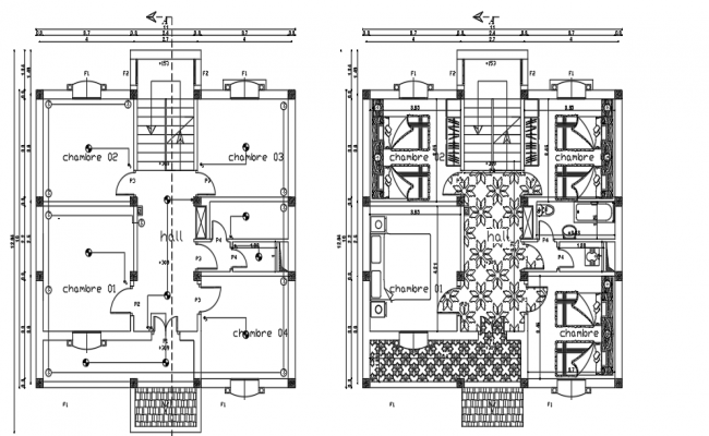 Villa Architectural Layout Plan Architecture Bungalow Design Layout