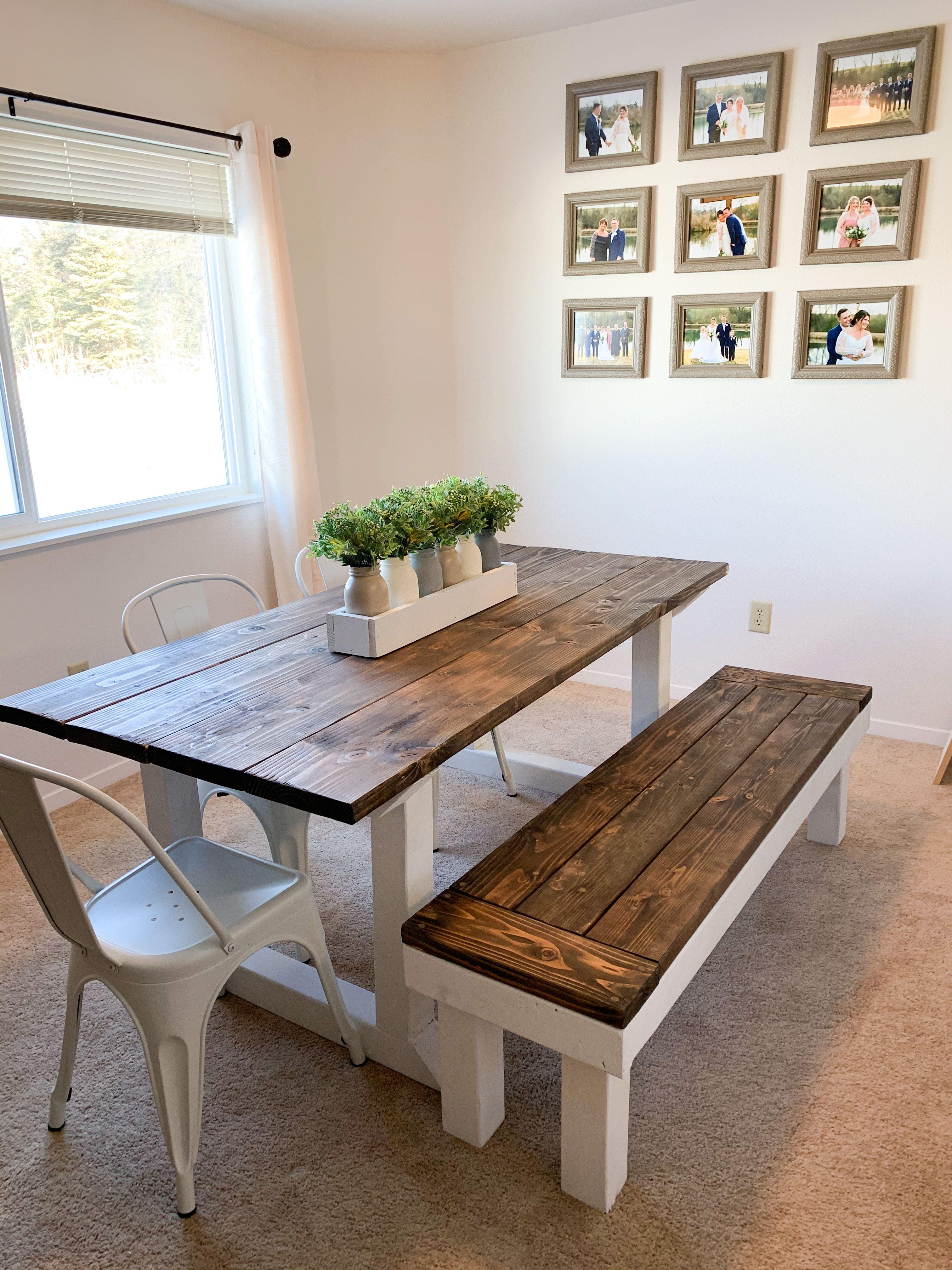 Farmhouse Dining Table And Bench Farmhouse Dining Table Farmhouse Dining Rustic Dining Table