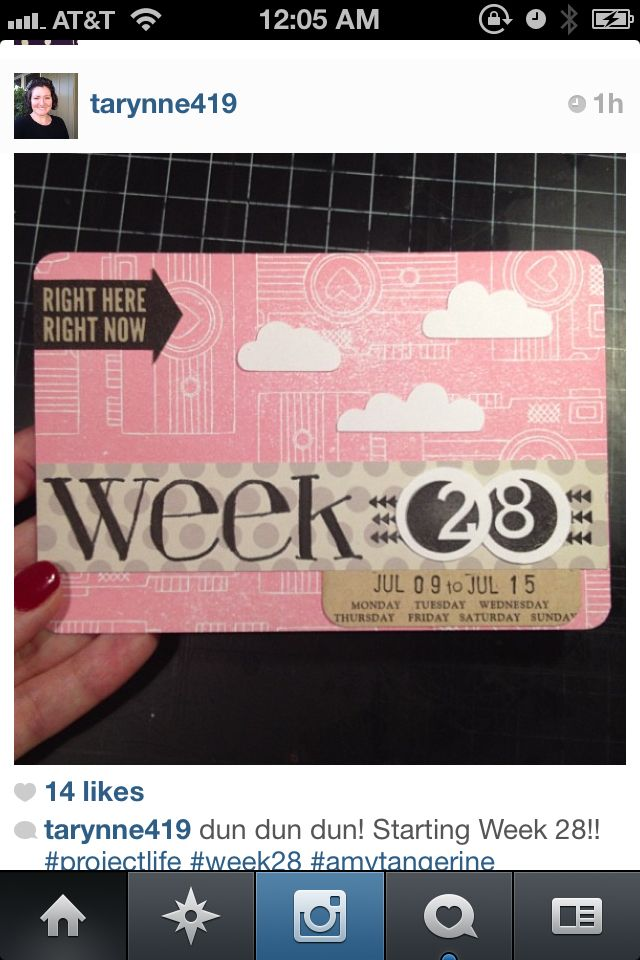 Project Life Week Card