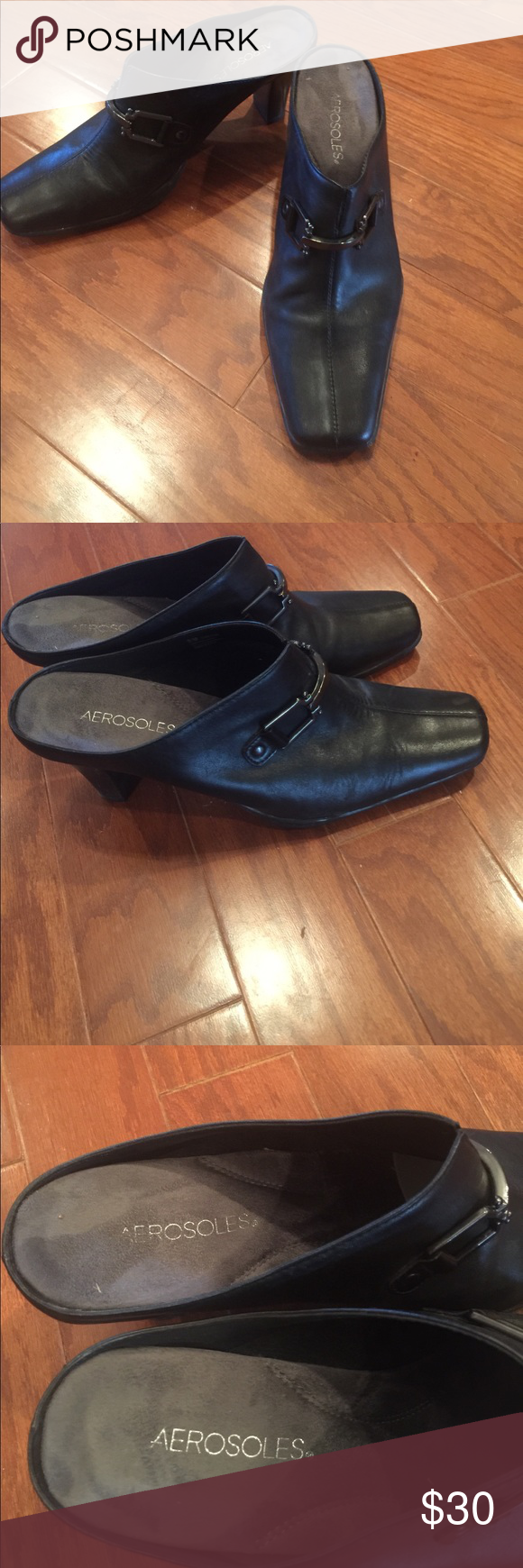 Aerosole Black mules Aerosole black mules . Size 9.5 B great condition. AEROSOLES Shoes Mules & Clogs