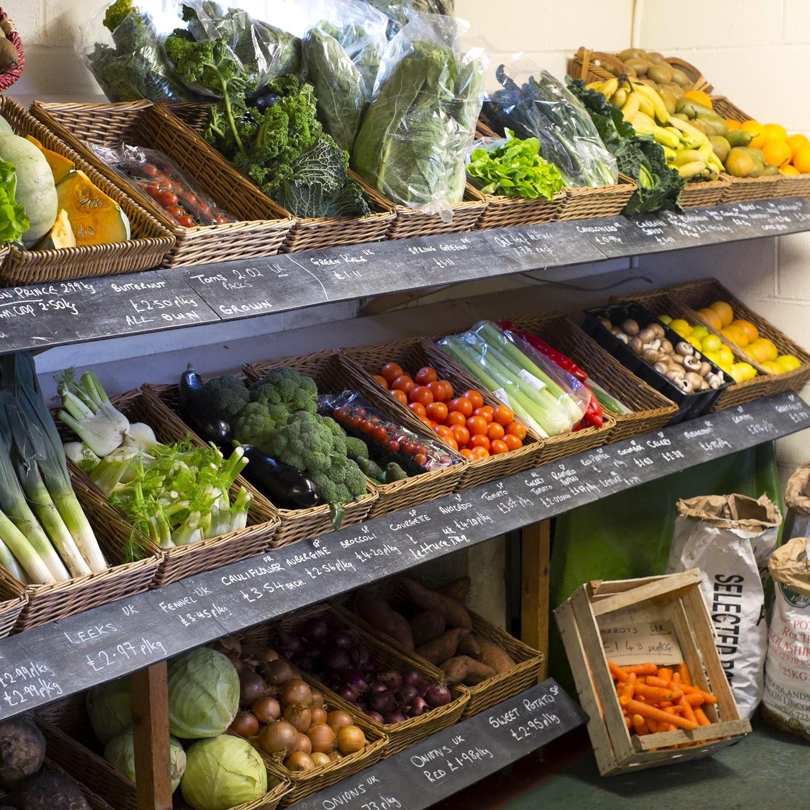 Farm shop fruit shop vegetable shop