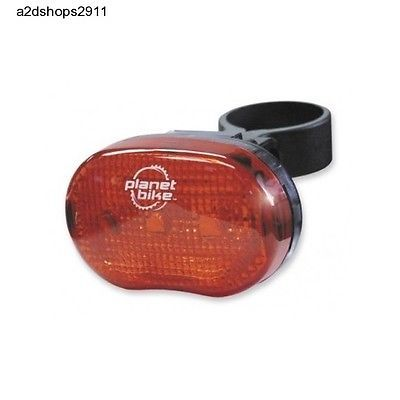 Red Flashing LED Detachable Bicycle Clip Light/Reflector,Rear Mount,Weatherproof