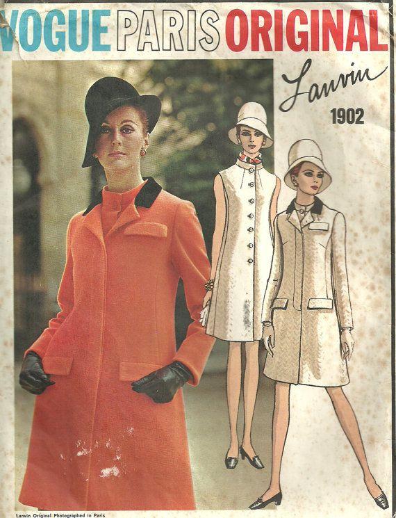 Vogue 1902 Vintage Designer Sewing Pattern Paris Original By Lanvin ...