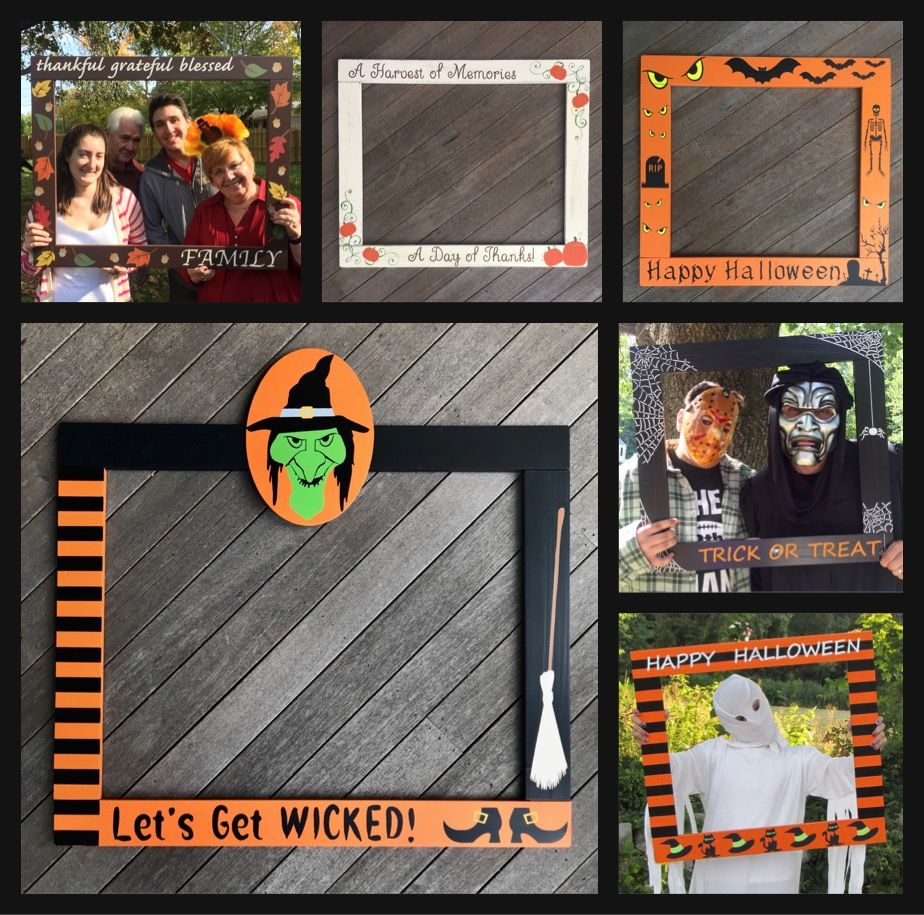 Halloween Fall Thanksgiving Photo Booth Frame Prop (With