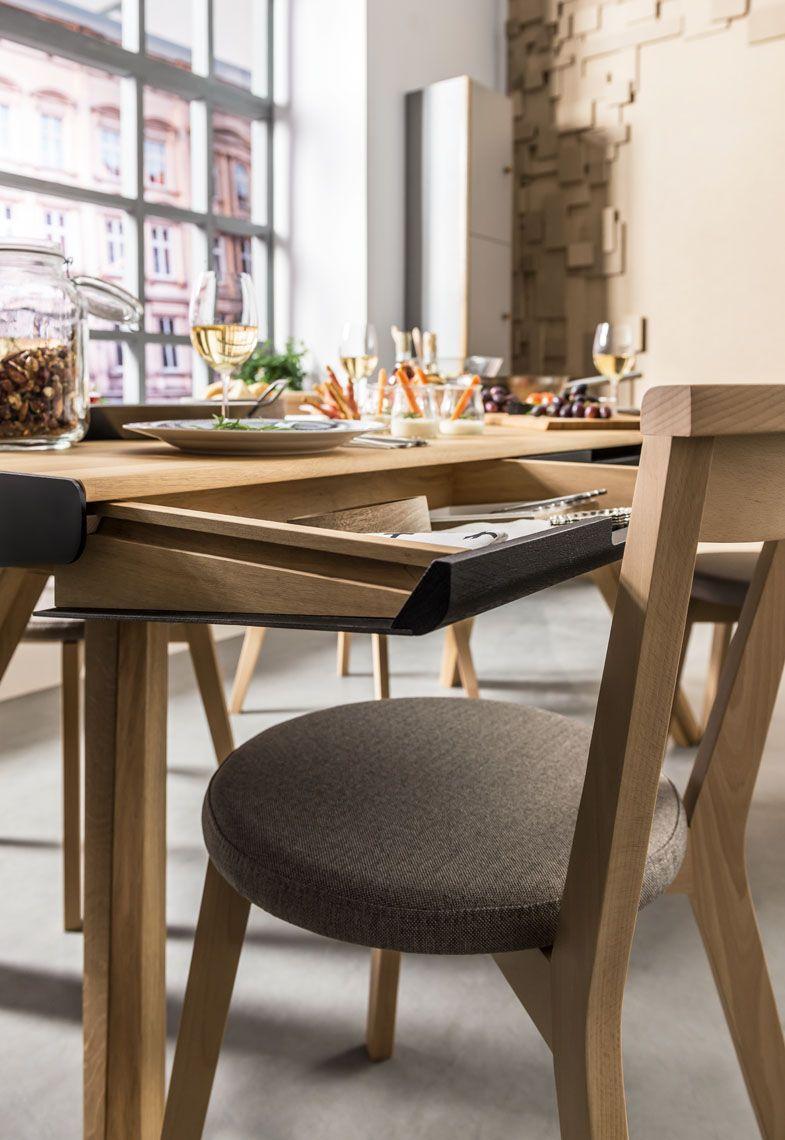 Stół Z Szufladami Dąbczarny Nature Typy Mebli Wnętrza Vox