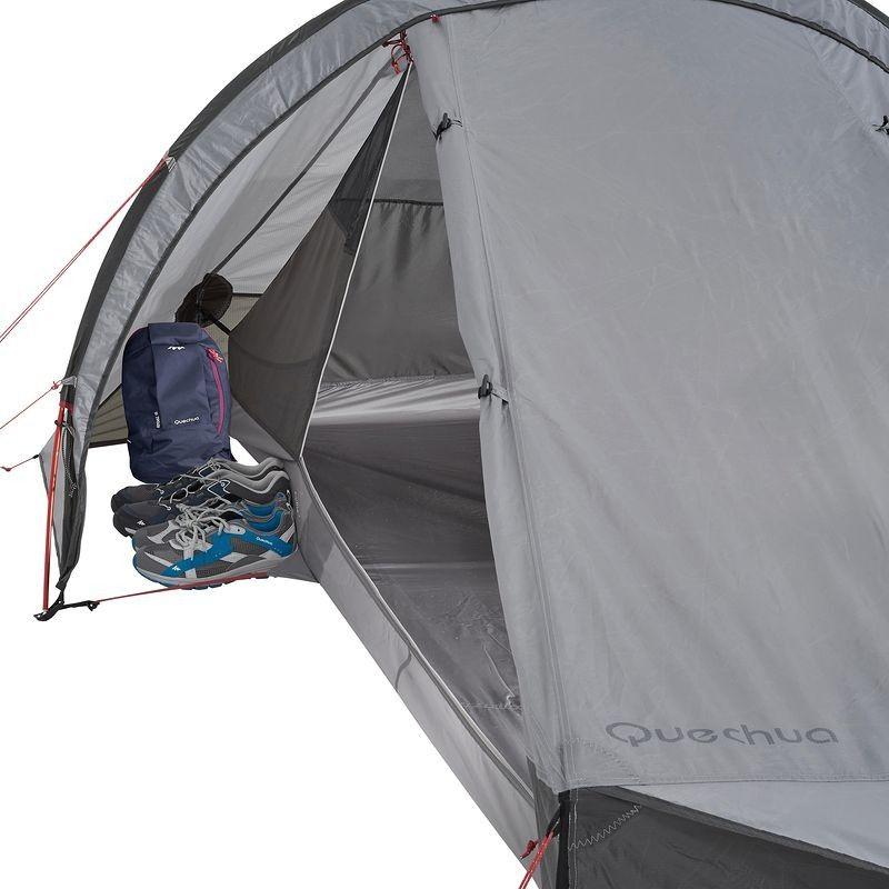 Tente De Trekking Quickhiker Ultralight 2 Personnes Gris Clair Sac De Survie Tentes Camping Tente