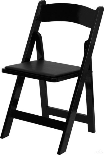 Quality Black Wood Folding Chair with Comfort Black Cushion - Find a Lower Price and we'll Beat IT- 855-653-8411- 800 lb Capacity - Quick Ship Item. Sale Price $19.50 Product Code: : BC10AB http://www.california-chiavari-chairs.com/Black_Wood_Folding_Chair_Discount_p/bc10ab.htm