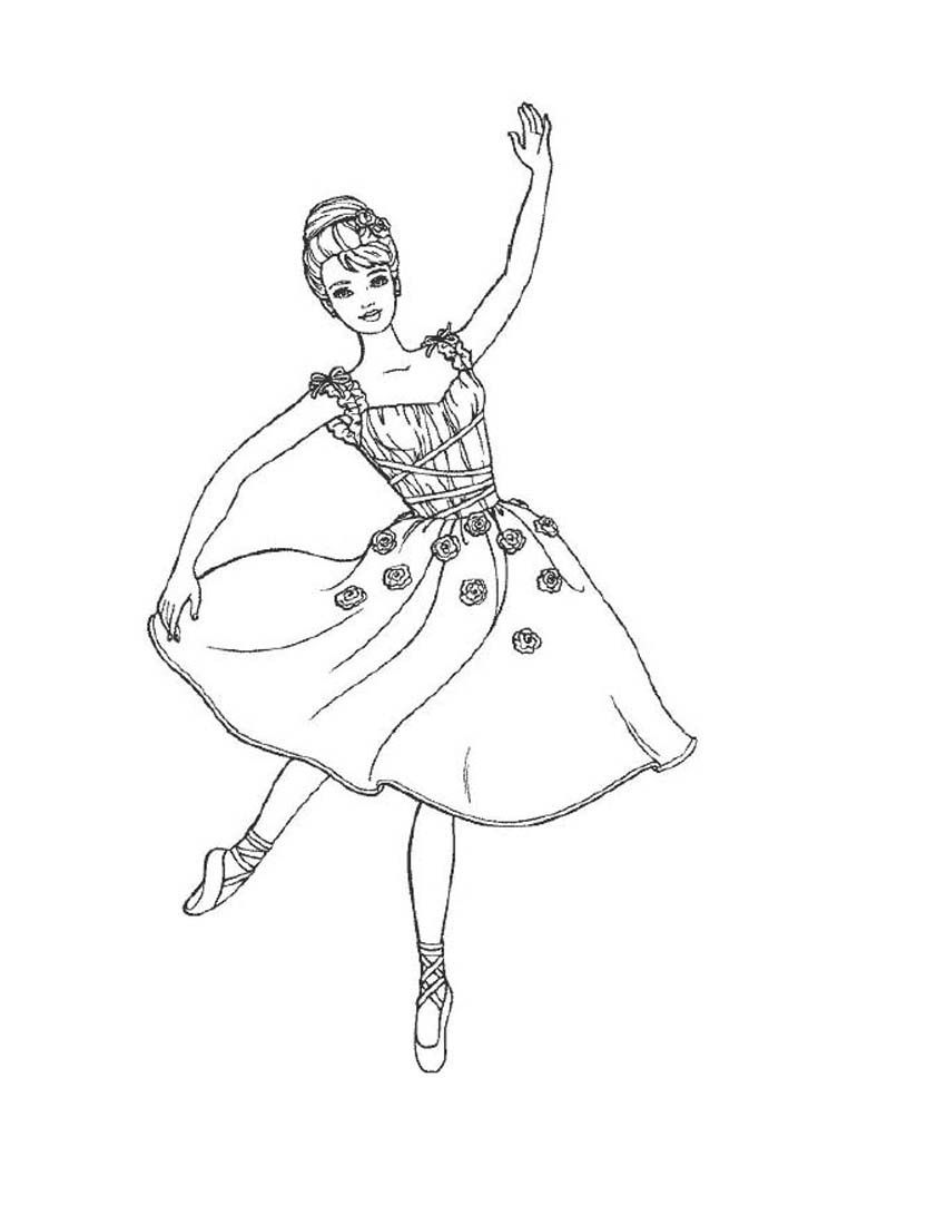 Printable Smart Idea Ballet Pictures To Color Ballerina Fifth