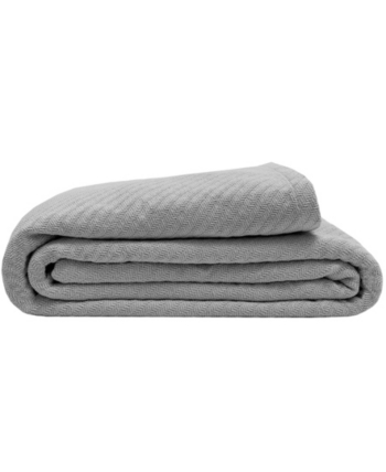 Full//Queen White LCM Home Fashions Cotton Thermal Blanket