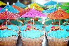 Tropical Bridal Shower cupcake idea