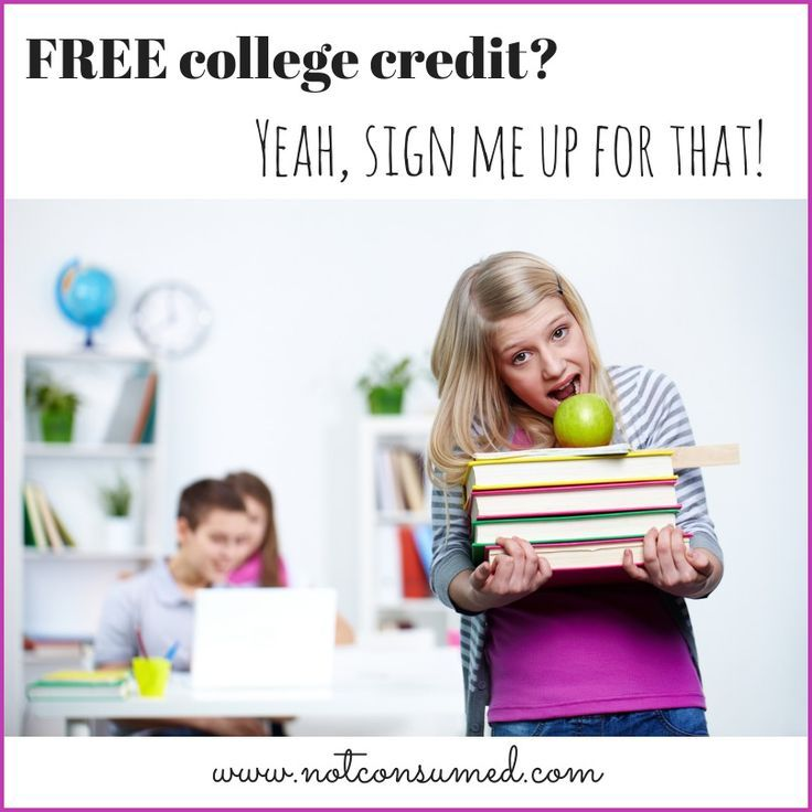 FREE college credit? From your living room? Yeah, sign me