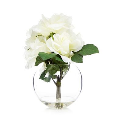 Debenhams White Vase Of Artificial Roses Debenhams Bedroom