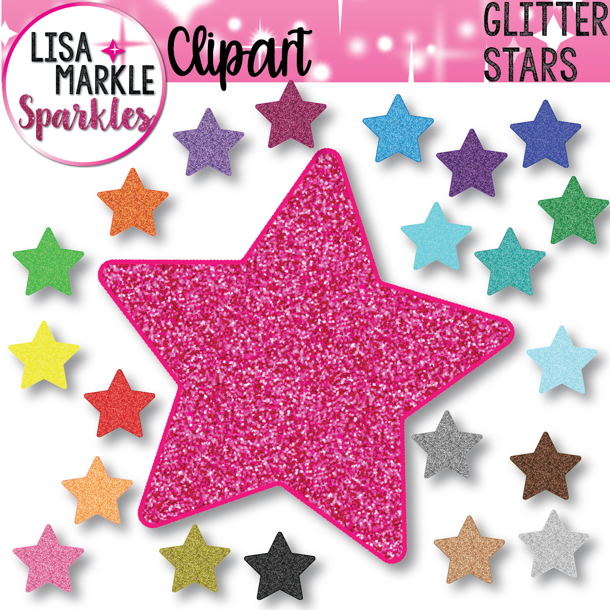Star Clipart With Glitter