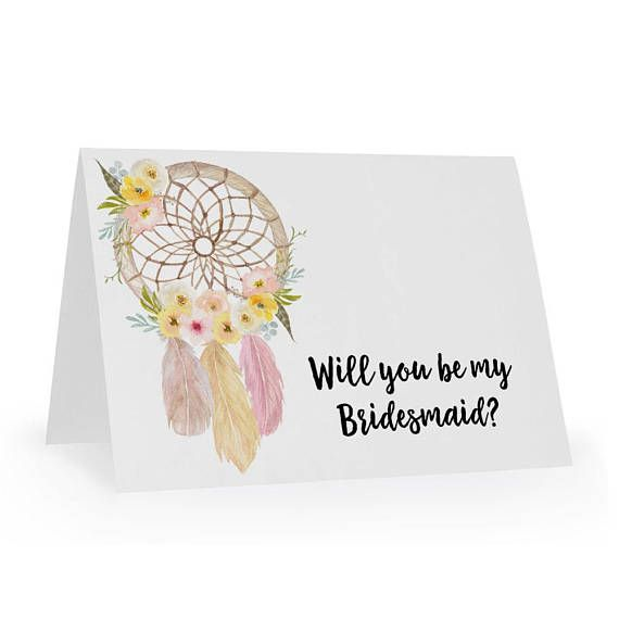 Party Proposal Wedding Party Proposal Will You Be My Bridesmaid Gift Card .