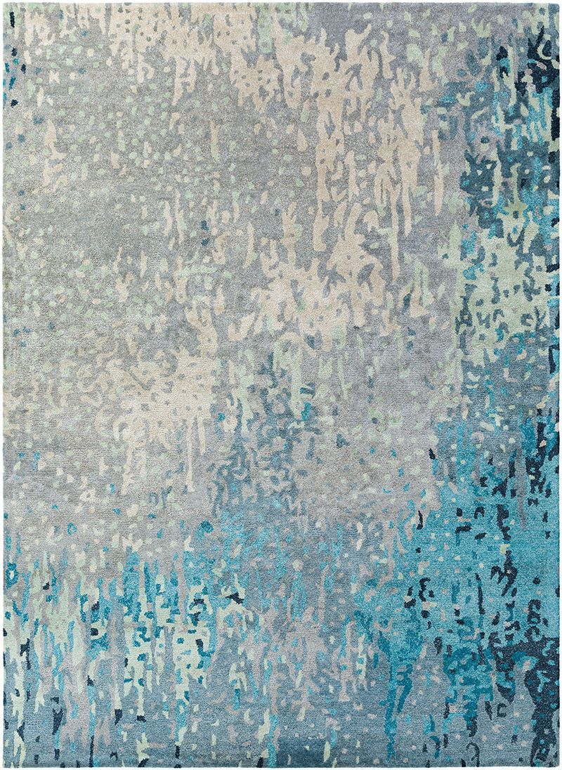Serenade Teal Moss Area Rug Teal Area Rug Hand Tufted