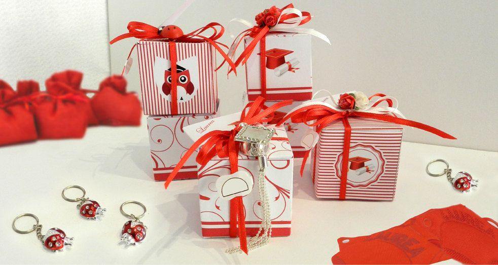 SET 9 X Graduation Gift Box / Graduation / Red / Red Lines / Owl /Jewelry / Laurea / Gufo / Tocco Rosso di Craft2Arts su Etsy