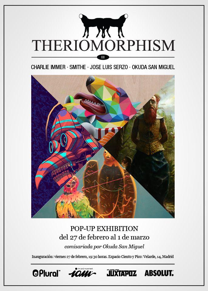 Flyer de la exposición 'Theriomorphism II'