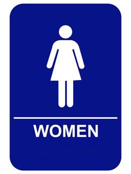 Women S Ada Braille Restroom Sign Restroom Sign Bathroom Signs Ada Restroom
