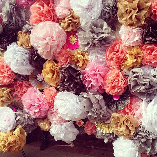 Photo by designsponge. Tissue medallion wall.