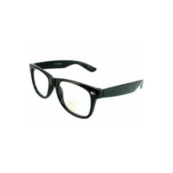 3cf6ebf2e2de22 Black with Clear Lens Wayfarer Styles Sunglasses 1081 ( 1.75) via Polyvore