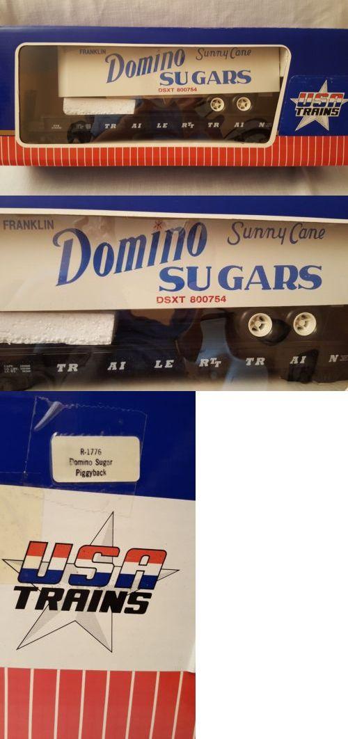 Freight Cars 122580: Usa Piggyback Flatcar Domino Sugars R1776 ...