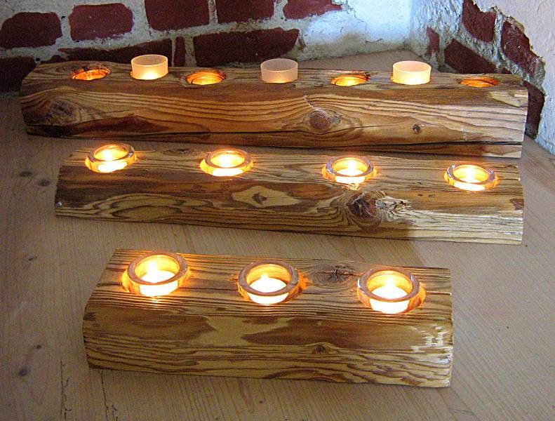 Deko aus altem holz  Windlichter Dekoration aus Holz | Dekoideen | Pinterest ...