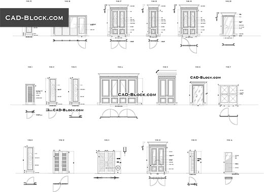 Doors free AutoCAD Blocks Autocad, Modern door, Doors