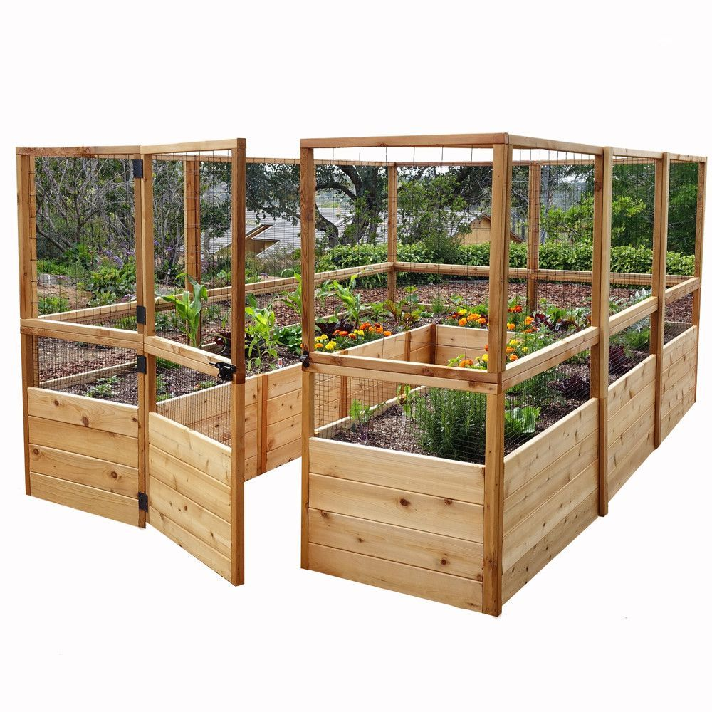 Features Preassembled Western red cedar raised garden
