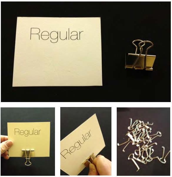 diy placecard holder from a binder clip