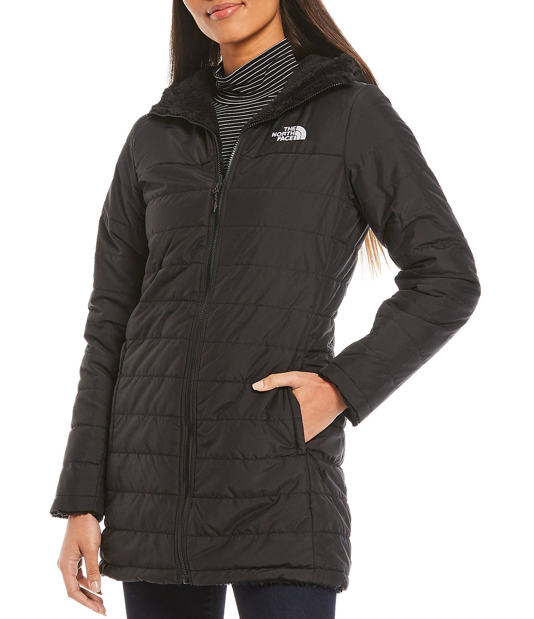 The North Face Mossbud Faux Fur Fleece Lined Insulated Reversible Hooded Parka Dillard S North Face Mossbud North Face Parka Hooded Parka [ 2040 x 1760 Pixel ]
