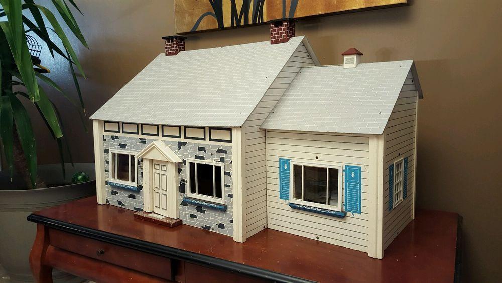 1960 S F A O Schwarz Keystone Of Boston Vintage Doll House 38 Inch