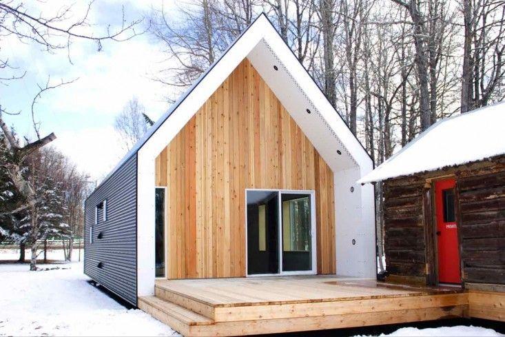 Cedar Sided Farmhouse barn shape with cedar siding modern