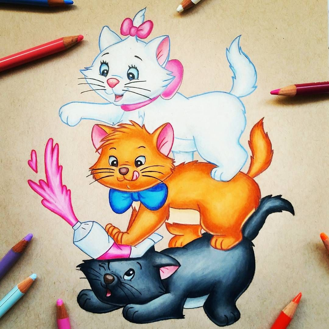 Marie, Toulouse & Berlioz (Drawing by Nadzer_Art @Instagram