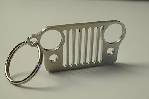 Made in America! Stainless Steel Jeep Grill keychain. The perfect Jeep Wrangler Accessories key chain - http://automotive.wegetmore.com/made-in-america-stainless-steel-jeep-grill-keychain-the-perfect-jeep-wrangler-accessories-key-chain-2/