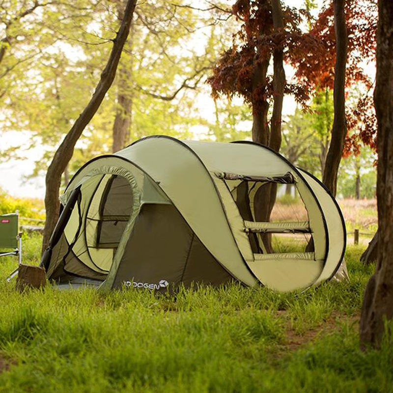 78.39$  Watch here - http://aliqhk.worldwells.pw/go.php?t=32699933117 - 5-8 Person 282*215*126cm Single Layer Large Camping Tents Waterproof Windproof Automatic Tents Climbing Hiking Tent