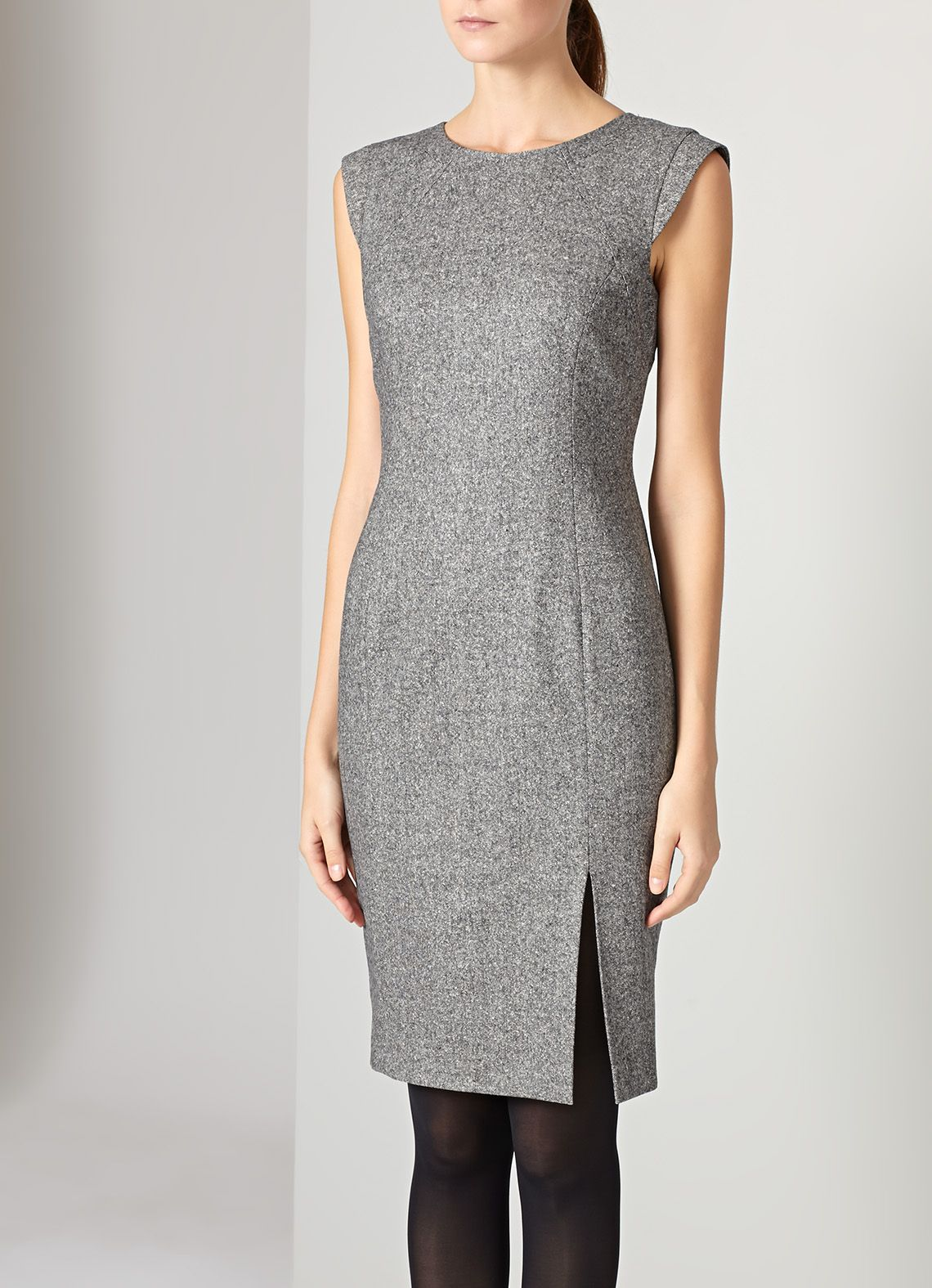 Austin Reed Grey Tweed Panel Dress Panel Dress Dresses For Work Dresses