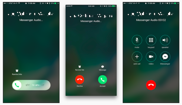 Facebook Messenger Supports iOS 10 CallKit and VoIP Calls