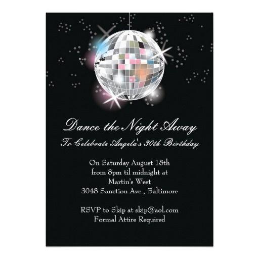 Disco Party Digital Invitation idea Disco Party Ideas Pinterest - invitation non formal