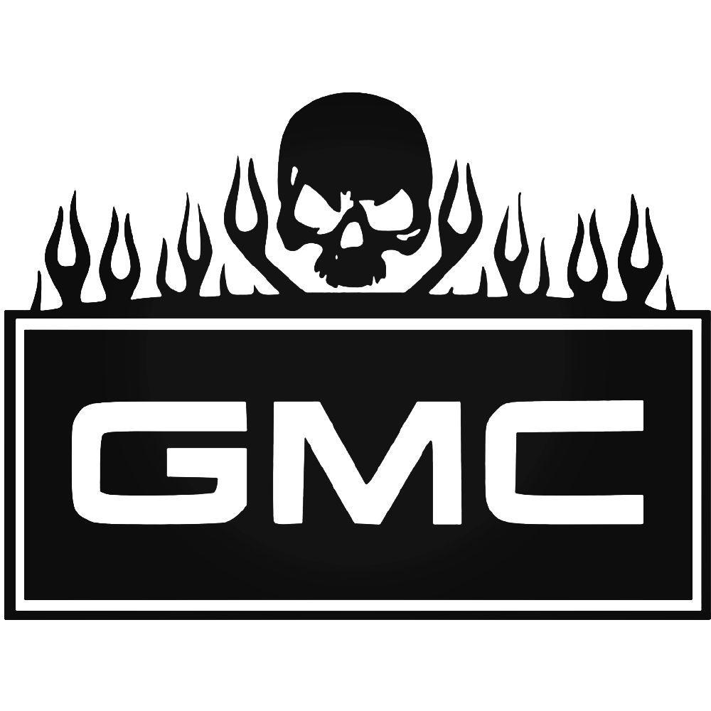 Gmc Flames And Skull Vinyl Decal Sticker Vinyl Decals Calendar