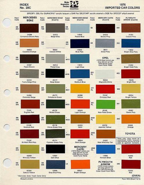 Ppg Colors   Ppg colors, Ppg, Car colors