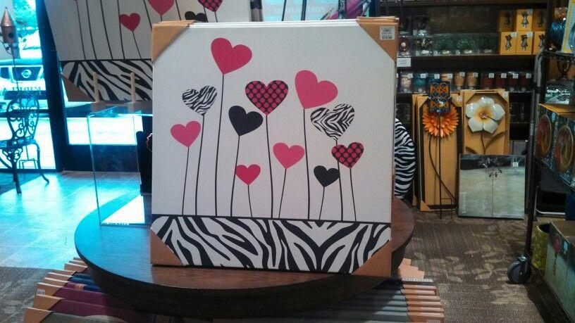 Pattern Hearts Pink & Black